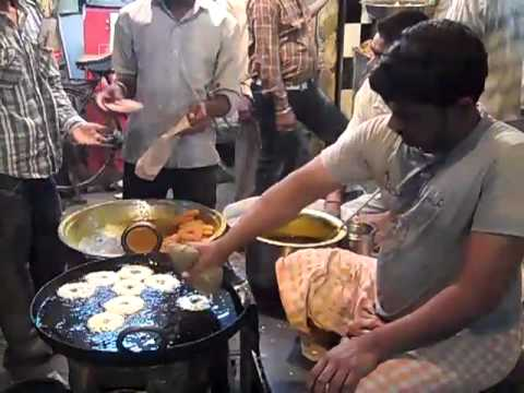Making Jalebi on the side of the road