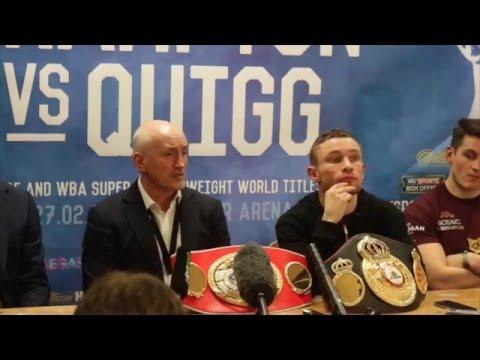 CARL FRAMPTON v SCOTT QUIGG (FULL) POST FIGHT PRESS CONFERENCE @ MANCHESTER ARENA