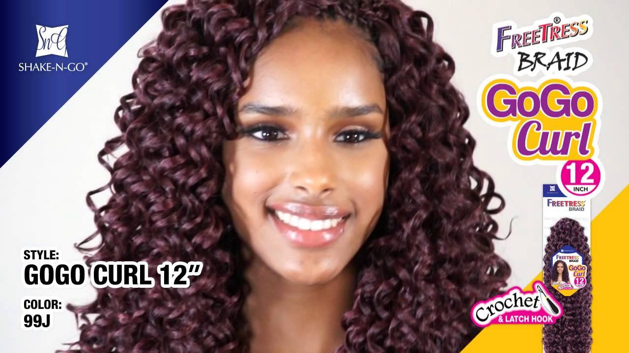 FreeTress Synthetic Hair Crochet Braids GoGo Curl 12 3