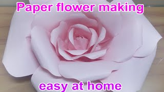 Paper flower making easy at home