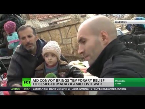Aid convoy brings relief to Madaya, Syria