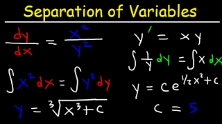Separable First Order Differential Equations - Basic Introduction