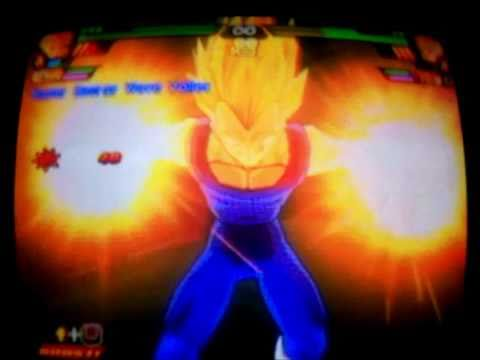 DBZ BT3 SSJ2 Vegeta (Second Form) & SSJ3 Gotenks vs Super Vegito SSJ4 Gogeta & Kid Buu