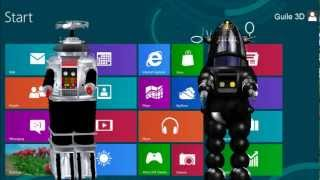 Virtual Assistant Denise 2012 Guile 3D Studio Robby The Robot and B9 Robot