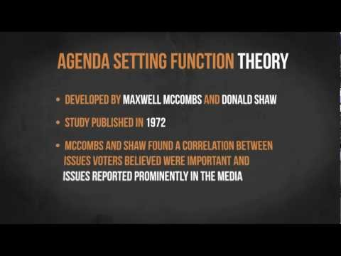The Agenda Setting Function Theory | Media in Minutes | Episode 3