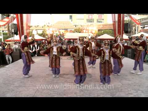 Students perform a Turkish Folk Dance