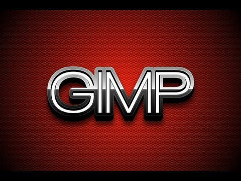 GIMP Tutorial: Glossy Metal 3D Text