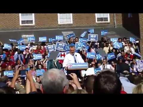 Terry McAuliffe Speaks to Hillary Clinton Rally in Alexandria, VA (10/23/15)
