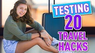 Testing 20 Travel Hacks + Airport Tips & Tricks!