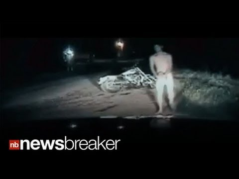 NUDE MOTOR DUDE: Naked Teen Busted Riding Bike in Buff (CAUGHT ON TAPE)