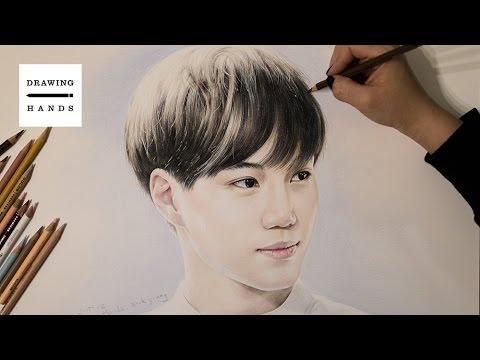 엑소 - 카이 그림 그리기 (Speed Drawing EXO Kai) [Drawing Hands]