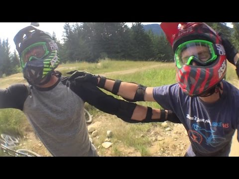 Jumping The Biggest Jumps at Whistler Mountain on Rental Bikes - Crab Apple Hits