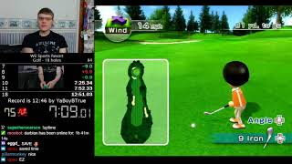 (12:32) Wii Sports Resort Golf (18 holes) speedrun *Former World Record*