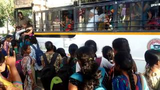 TSRTC bus at xxx engineering college stop