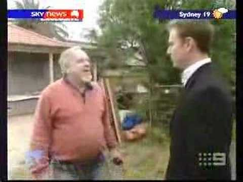 Pedophile goes nuts at reporter on Australian News