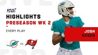 Every Josh Rosen Play vs. Buccaneers | NFL 2019 Highlights