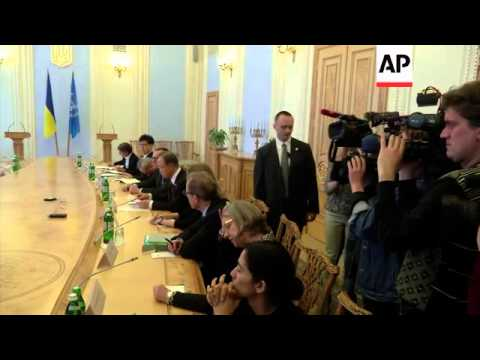 UN secretary general meets acting president of Ukraine