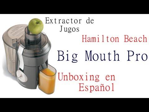 Extractor de Jugos Hamilton Beach Big Mouth Pro - Unboxing en Español