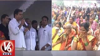 KTR Inaugurates Development Works In Karimnagar, Slams Rahul Gandhi Over Telangana Tour