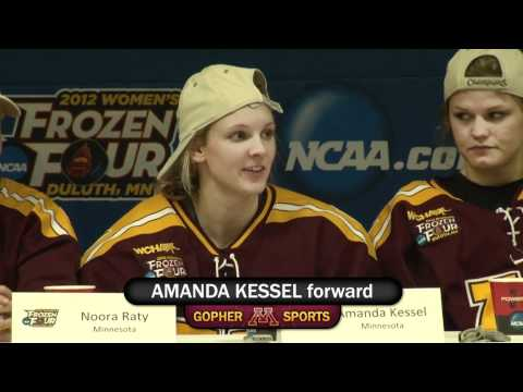 Gopher womens hockey discusses 2012 national championship