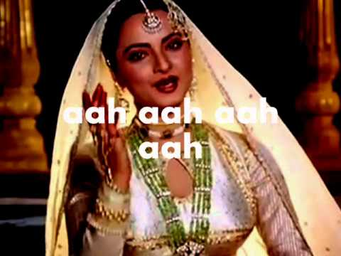 In Aankhon Ki Masti Ke Mastane Hazaron Hai-karaoke & Lyrics-umrao Jaan video