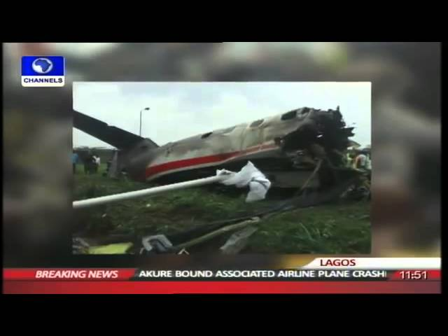 Video Of Crashed Plane Carrying Agagu's Remains   Channels TV