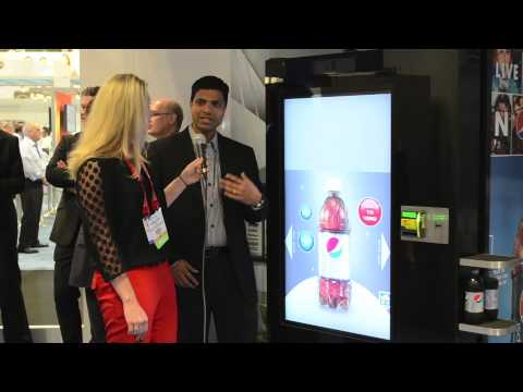 Intel s digital signage Pepsi machine at NRF 2013
