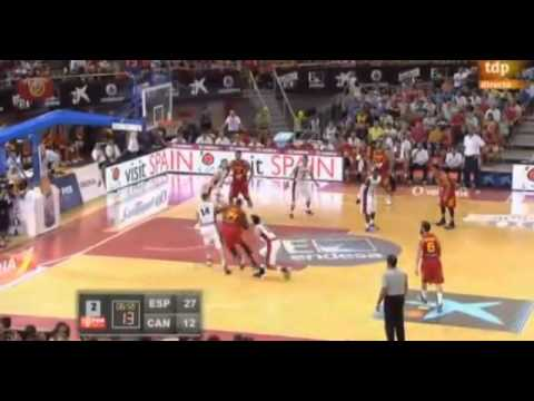 Pau Gasol, Marc Gasol and Serge Ibaka highlights vs Canada