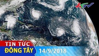 Thế giới có 9 cơn bão cùng lúc | TIN TỨC ĐÔNG TÂY - 14/9/2018