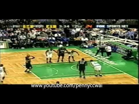 Allen Iverson 47pts vs Pierce Walker Boston Celtics 01/02 NBA *Fleet Center record