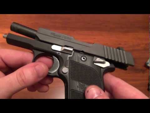Sig P938 Nightmare Edition 9MM Close-up and Short Shooting Clip