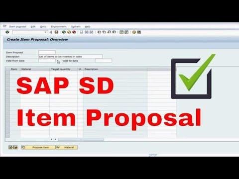 SAP SD Item Proposal VA51 ECC 6.0 How To Video Tutorial