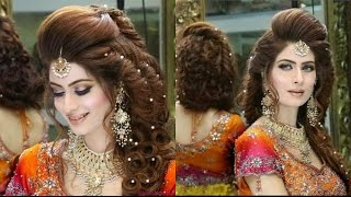 New Stylish Makeup & Hair Styles For Bridals 2017 by Makeup Zone