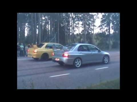 illegal Street race 1/8 mile Gävle Sweden