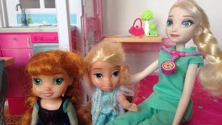 Elsa's morning (work) routine, Elsa is a nurse! Elsya gets ready for school 🙂🍭😊