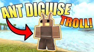 ANT DISGUISE TROLLING!   ROBLOX: Booga Booga