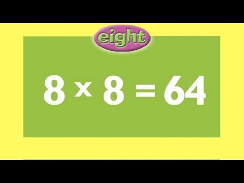 8 Times Tables  Kids Multiplication Song  Children Love to Sing