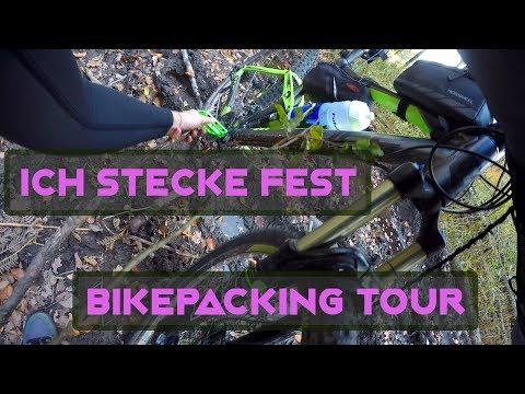 Ich stecke fest   Bikepacking Eselsweg Spessart   MTBTravelGirl