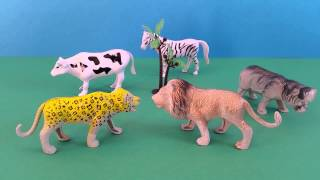 Safari Zoo Animals Toys with Animal Sounds