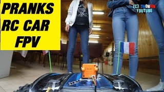 RC CAR FPV - EURO 2016 - VIDEO GAGS - PRANKS HUMOUR TRAXXAS X-MAXX MONSTER TRUCK