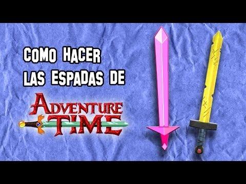 Armas Caseras   Como Hacer las Espadas de Hora de Aventuras Finn y Fionna (Adventure Time)