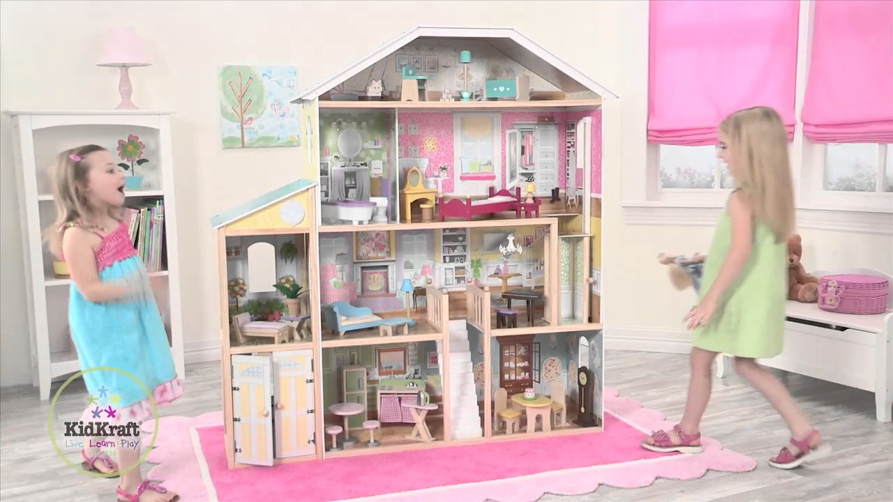 Wooden Majestic Mansion Dollhouse Item 65252 Youtube
