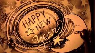 Happy New Year - Sand animation di Paola Saracini