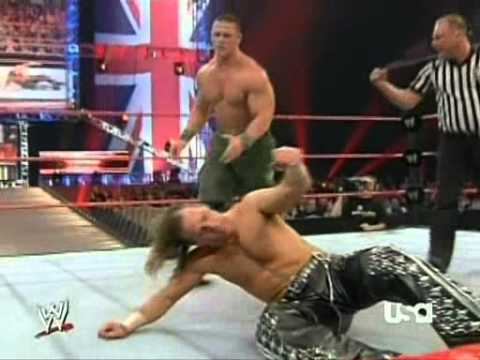John Cena Vs. Shawn Michaels (wwe Monday Night Raw 23.04.2007) video