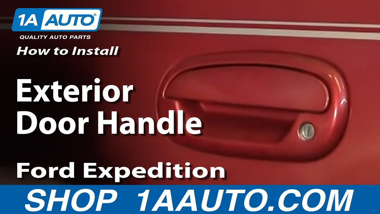 install replace exterior door handle ford