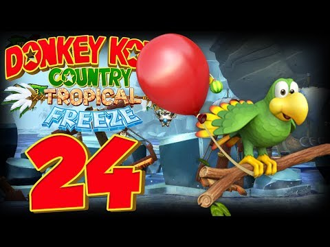 Let's Play Donkey Kong Country Tropical Freeze Part 24: Die rollende Affen-Eiskugel