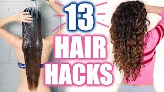 13 EASY HAIR HACKS FÜR TRAUMHAARE 💕 ROUTINE, LOCKEN, TROCKENE HAARE, VOLUMEN | KINDOFROSY