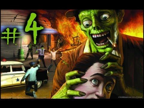 Прохождение Stubbs the Zombie #4 - Метание головы.