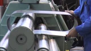 Making of a tank in a roundo plate bending machine