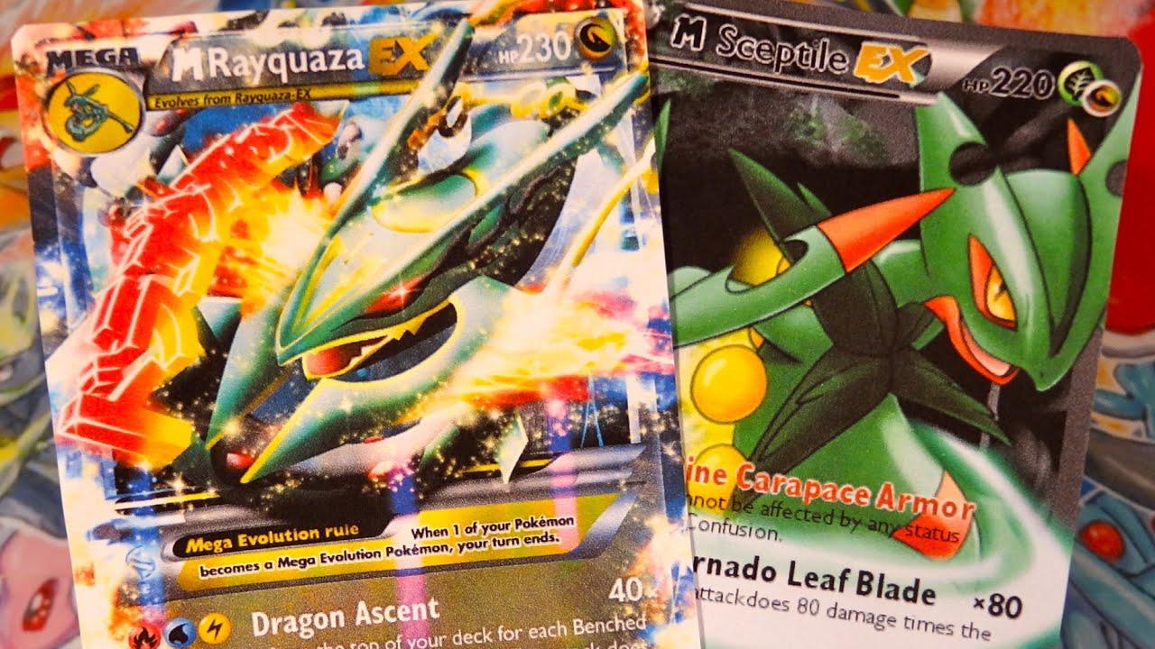 10 extraordinaires cartes pok mon ultra rare mega rayquaza ex mega jungko ex full art 3 - Carte pokemone ex ...